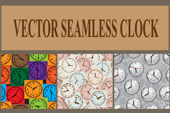 Seamless Vector Background Clock