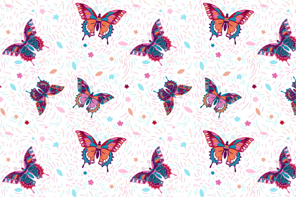Seamless Pattern Butterflies