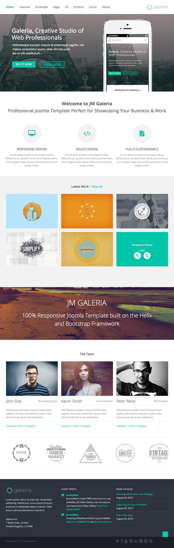 Responsive Template JM Galeria