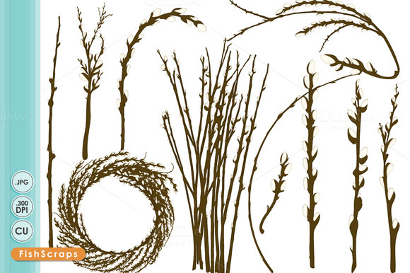 Willow Clip Art Tree Branches