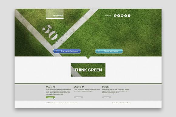 Green Landing Page
