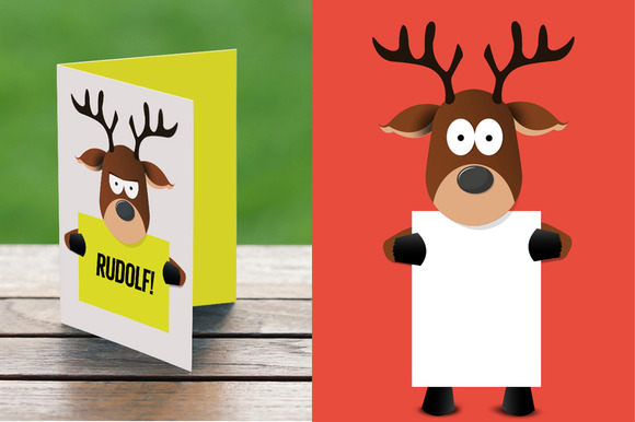 Cartoon Reindeer Holding A Paper