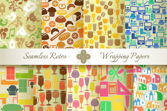 18 Retro Seamless Wrapping Papers