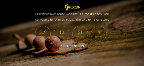 Godean Comingsoon Template