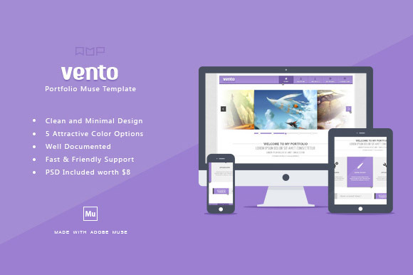 Vento One Page Muse HTML Template