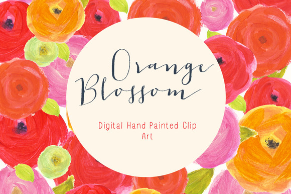 Flower Clip Art Orange Blossom