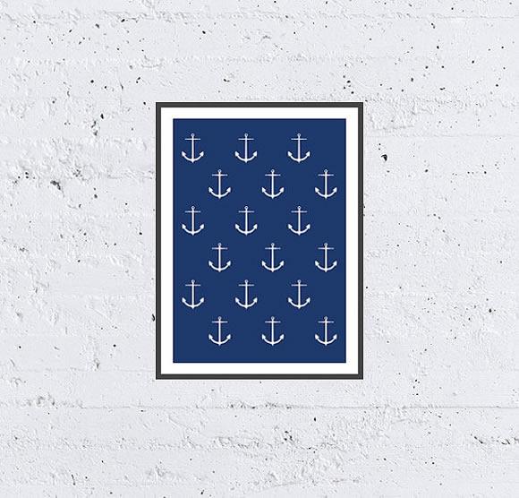 Sea Anchor Pattern Printable