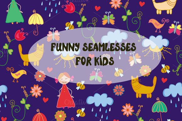 Funny Seamless Patterns For Kids