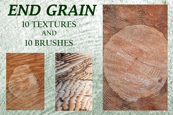 End Grain Textures And Brushes