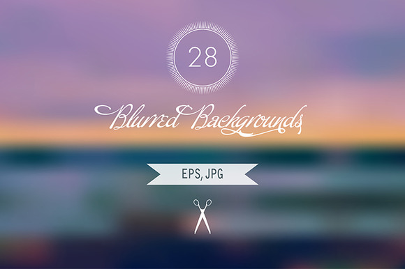 28 Blurred Backgrounds EPS JPG