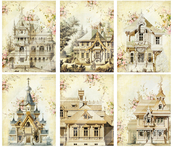 Victorian Tour Of Homes Collage