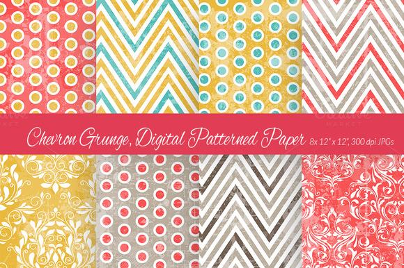Chevron Grunge Digital Paper 2