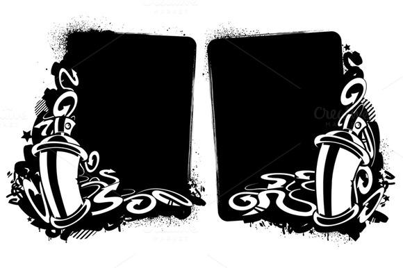 2 Graffiti Banners