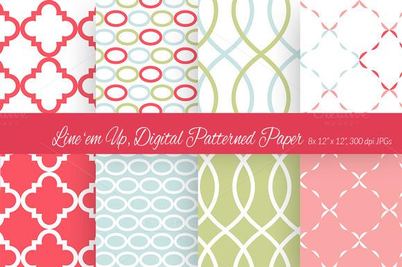 Line Em Up Digital Paper Scheme 6