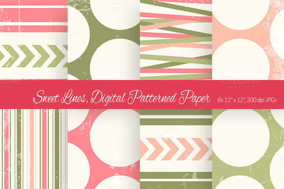 Sweet Lines Digital Paper Scheme 4