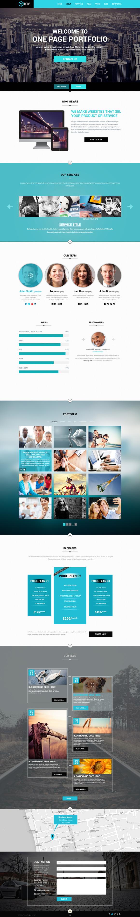 Icy OnePage Portfolio