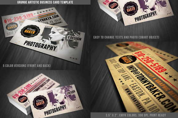 Grunge Business Card Template 01