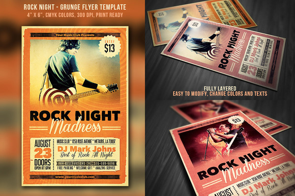 Rock Night Grunge Flyer