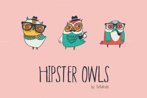 Hipster Owls