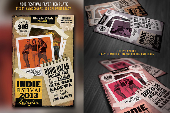 Indie Festival Flyer Template