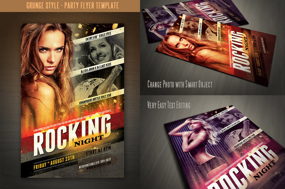 Grunge Style Flyer Template
