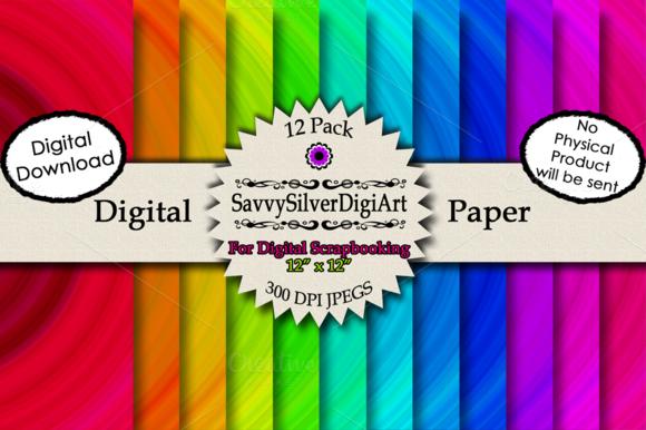 Bullseye Kaleidoscope Digital Paper