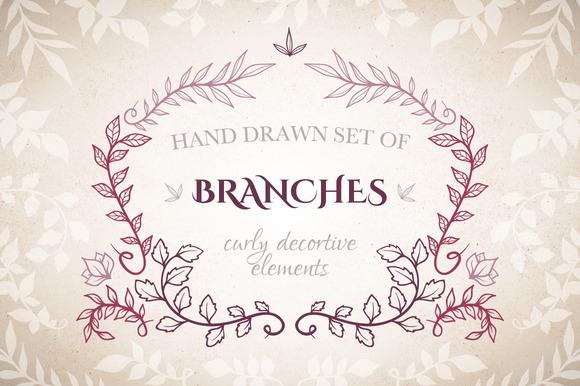 Branches Decorative Elements