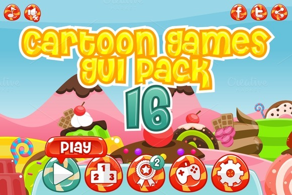 Cartoon Games GUI Pack 16
