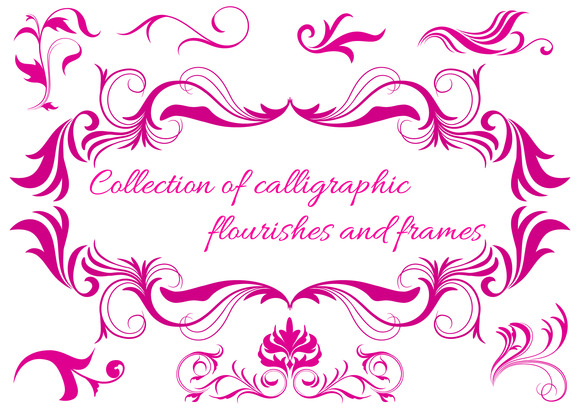 Calligraphic Flourishes And Frames