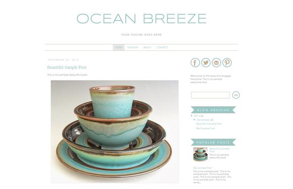 Blogger Template Ocean Breeze