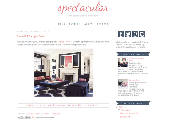 Blogger Template Spectacular