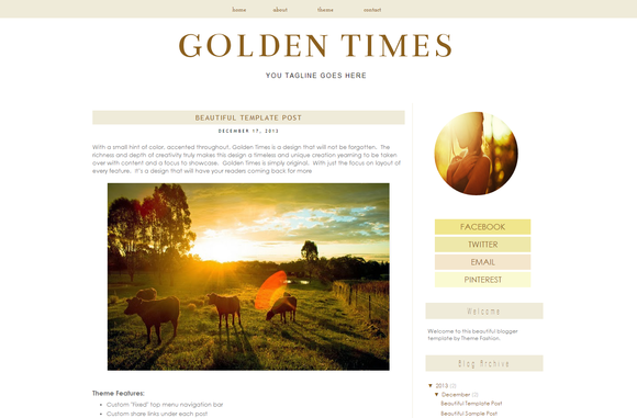 Blogger Template Golden Times