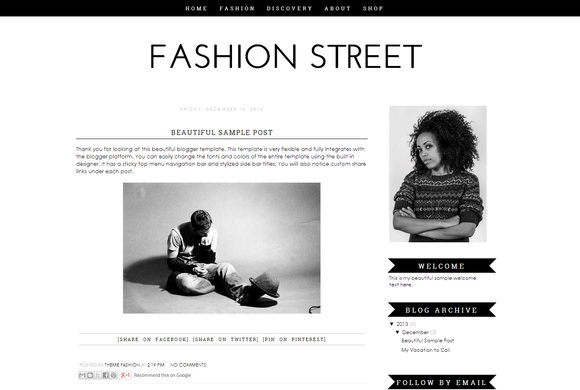 Blogger Template Fashion Street