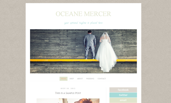 Blogger Photography Template