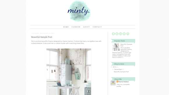 Blogger Template Minty