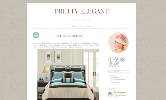 Blogger Template Pretty Elegant