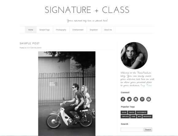 Wordpress Template Signature Class