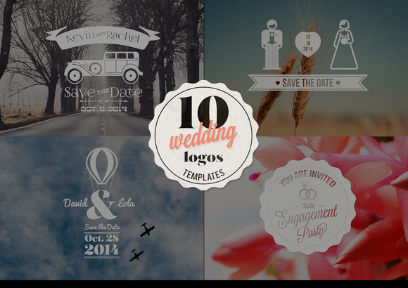 10 Wedding Logos Templates