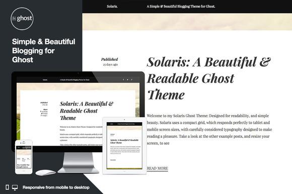 Solaris Responsive Ghost Theme