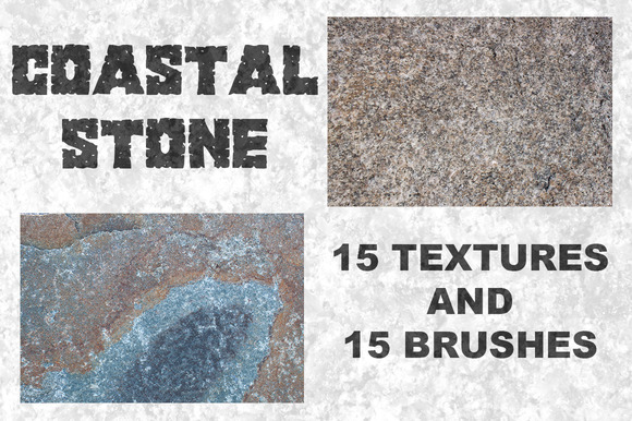 Coastal Stone-15 Textures Brushes