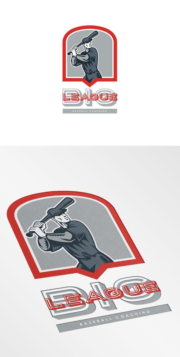 Big League Baseball Coaching Logo