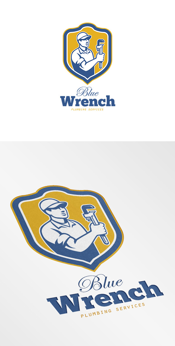 Blue Wrench Plumbing Services Logo
