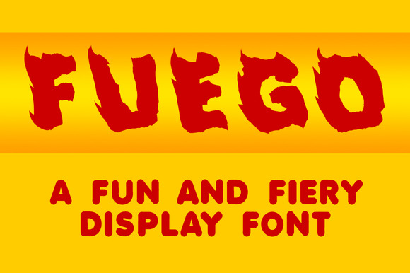 Fuego A Fun And Fiery Font