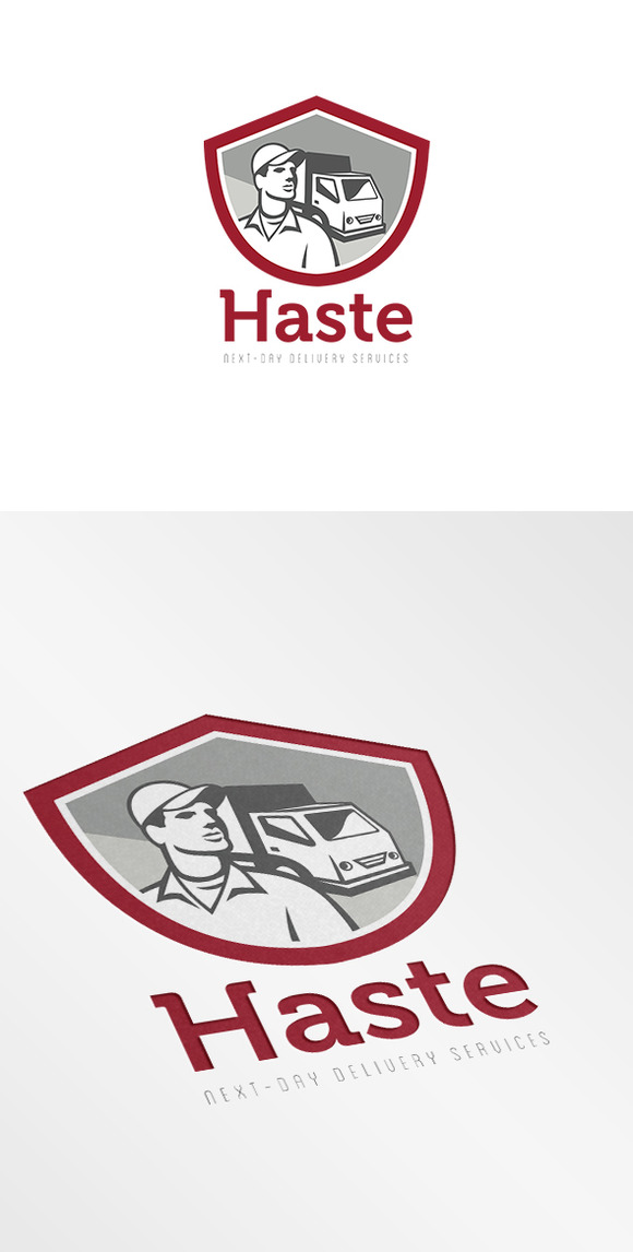Haste Next Day Delivery Service Logo