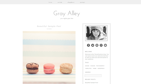 Wordpress Template Gray Alley