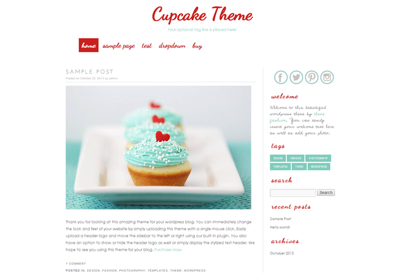 Wordpress Template Cupcake