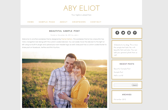 Wordpress Template Aby Eliot