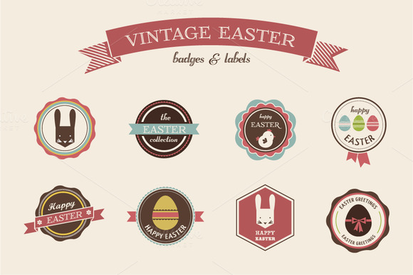 Vintage Hipster Easter