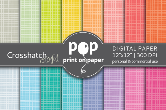 Crosshatch Colorful 16 Digital Paper