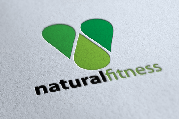 Natural Fitness Premium Logo